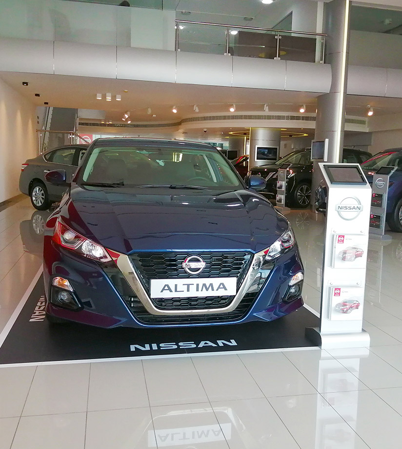 Nissan Altima in Showroom