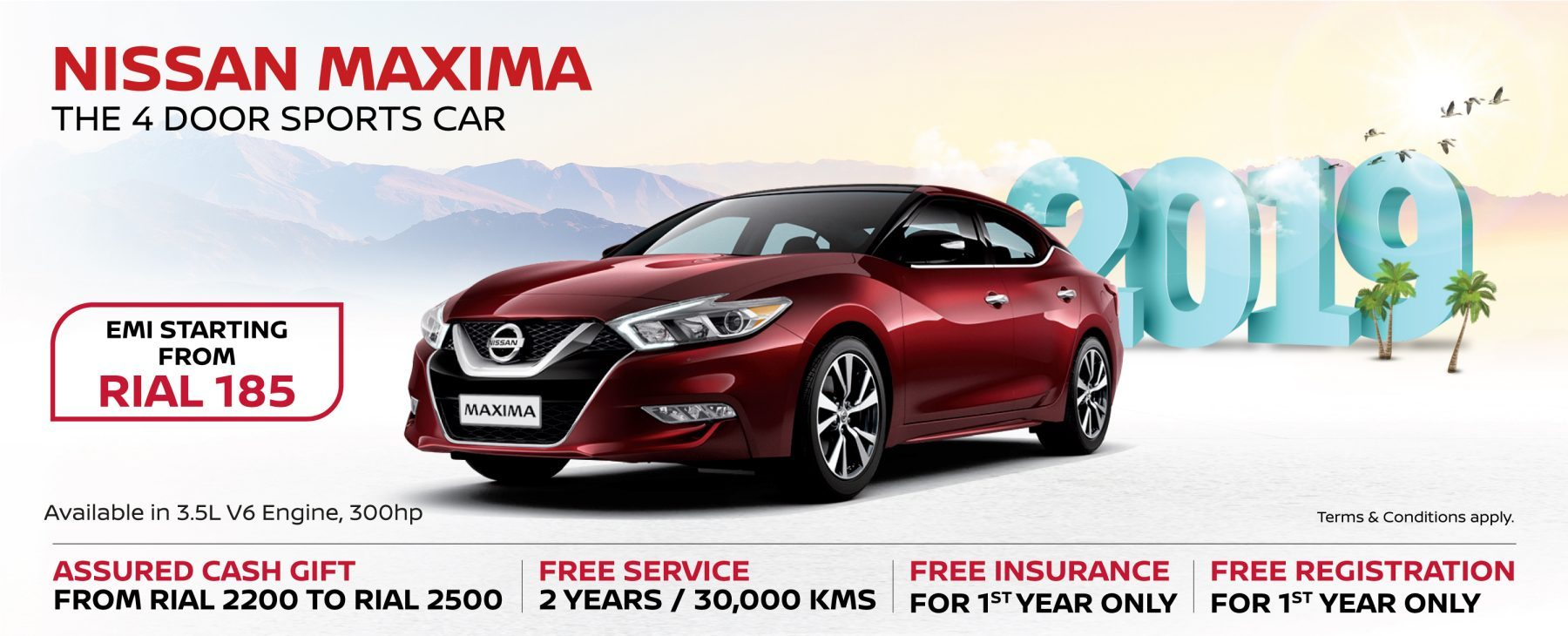 Nissan Maxima January Offer 2019