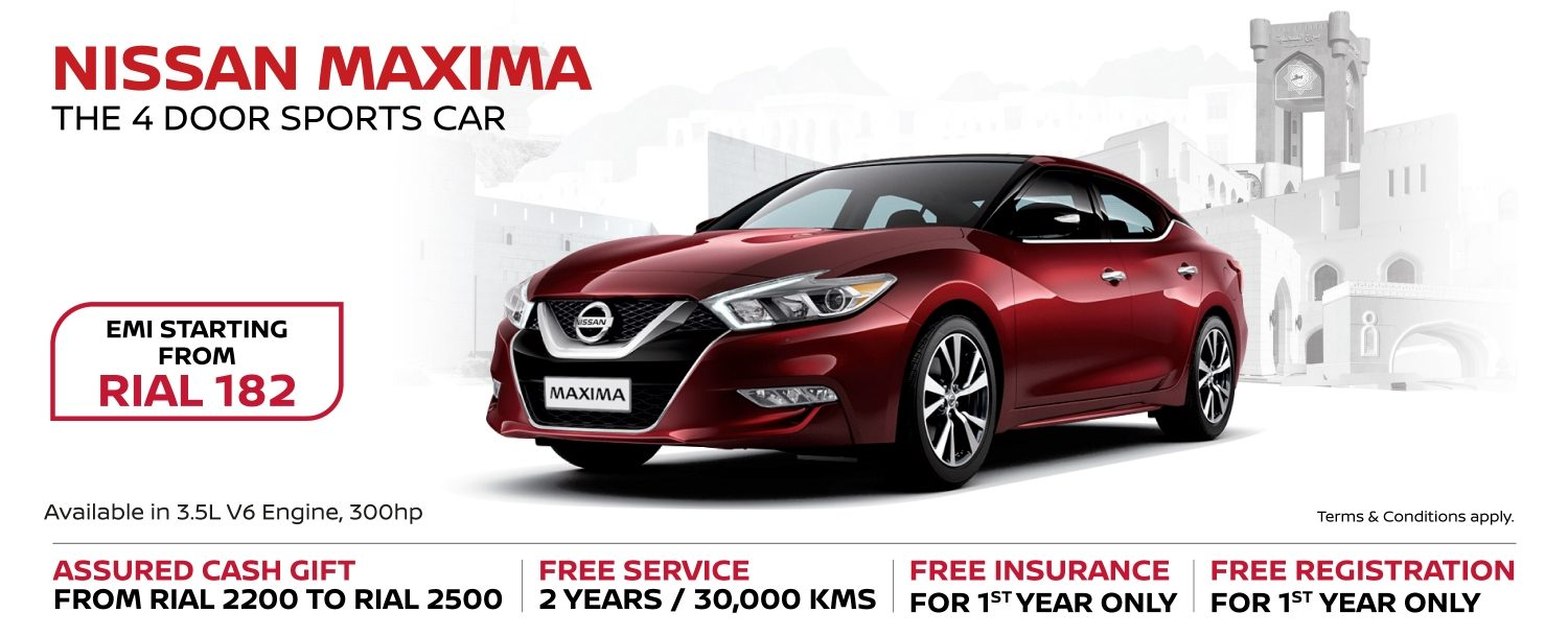 Nissan Maxima October Offer 2018