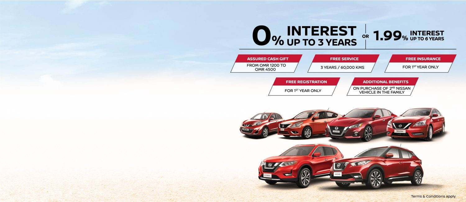 Nissan Range Special Offers July 2019