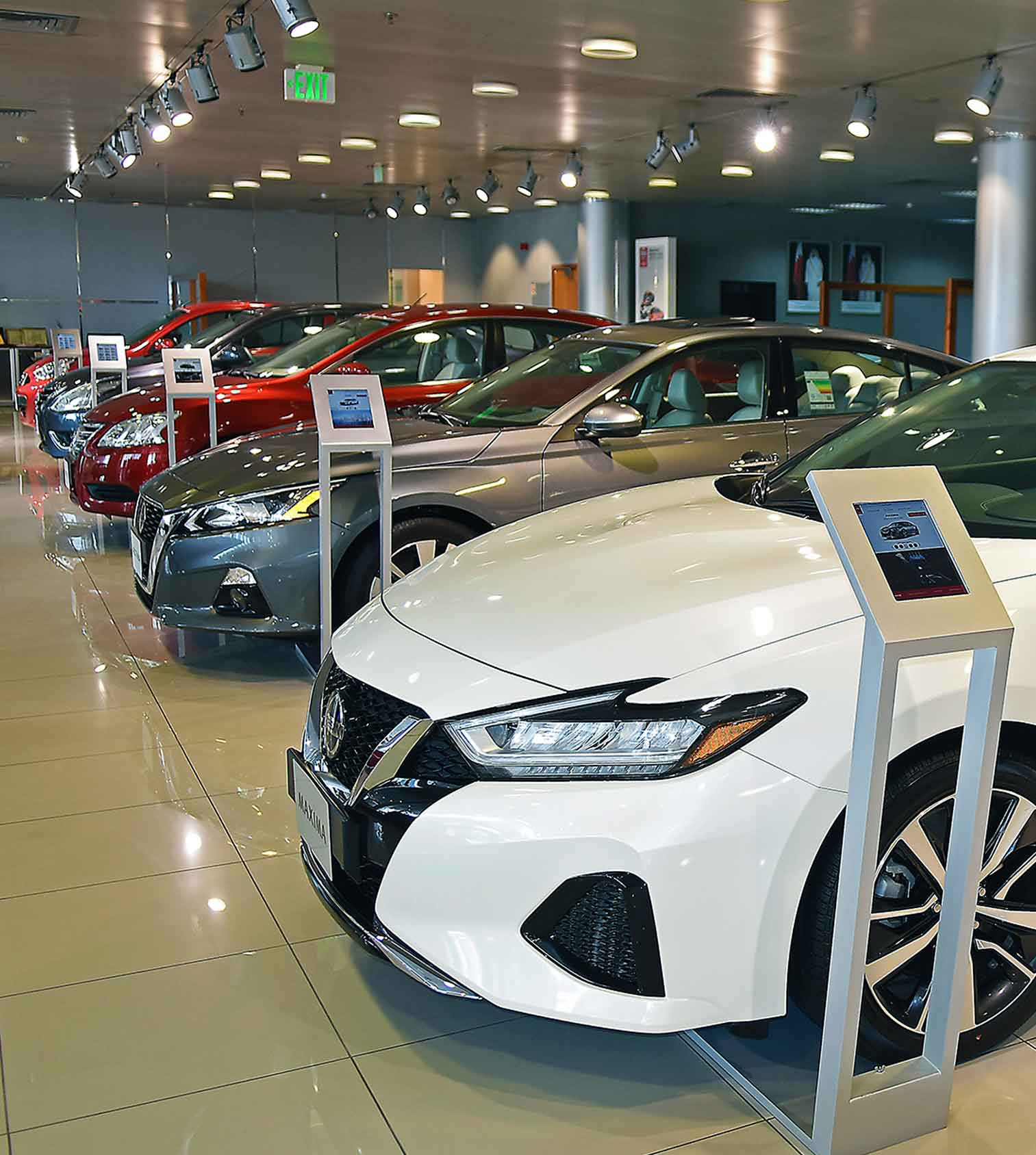 Nissan Cars in Showroom