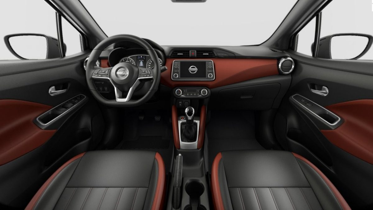 NISSAN MICRA Innenraum in Inspiration Red