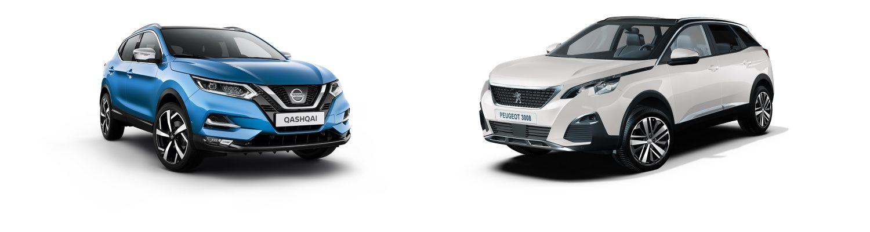 Vergleich - NISSAN QASHQAI vs Peugeot 3008