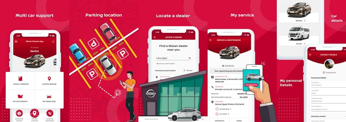 nissan owners app in smartphone
