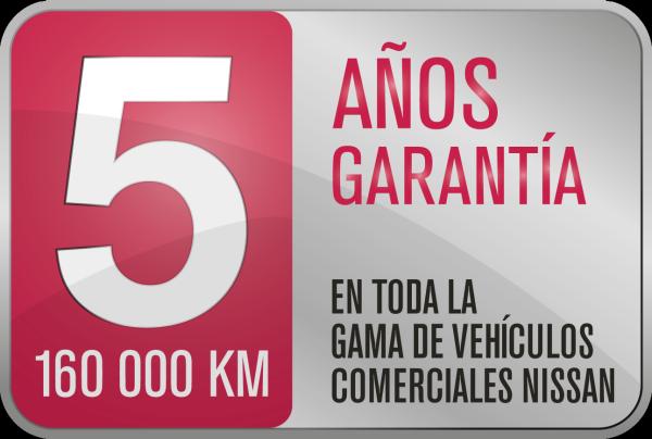 Garantía de 5 años o 160 000 km*