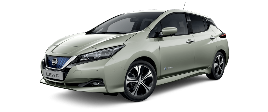 Nissan LEAF N-CONNECTA en color Nube Primaveral