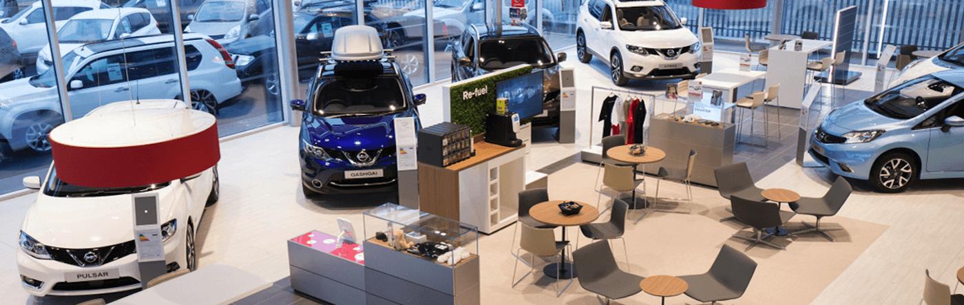 Nissan dealership courtyard