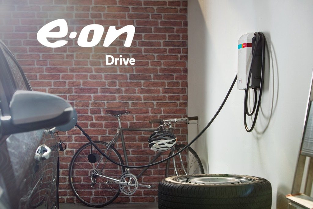 Eon Home Charger mounted in garage