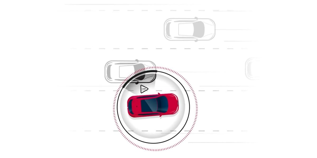 Nissan intelligent blind spot intervention