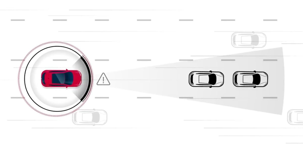 Nissan intelligent forward collision warning