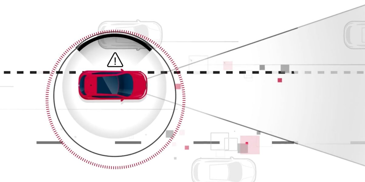 Nissan intelligent lane intervention