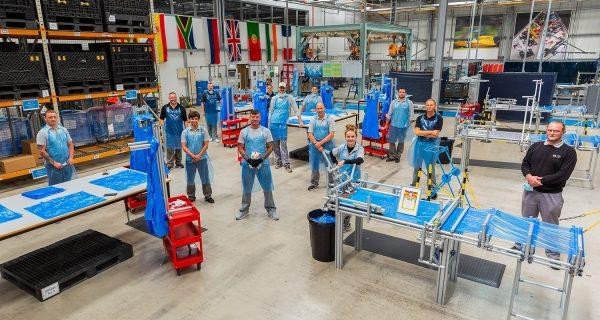 Sunderlands factory team in PPE