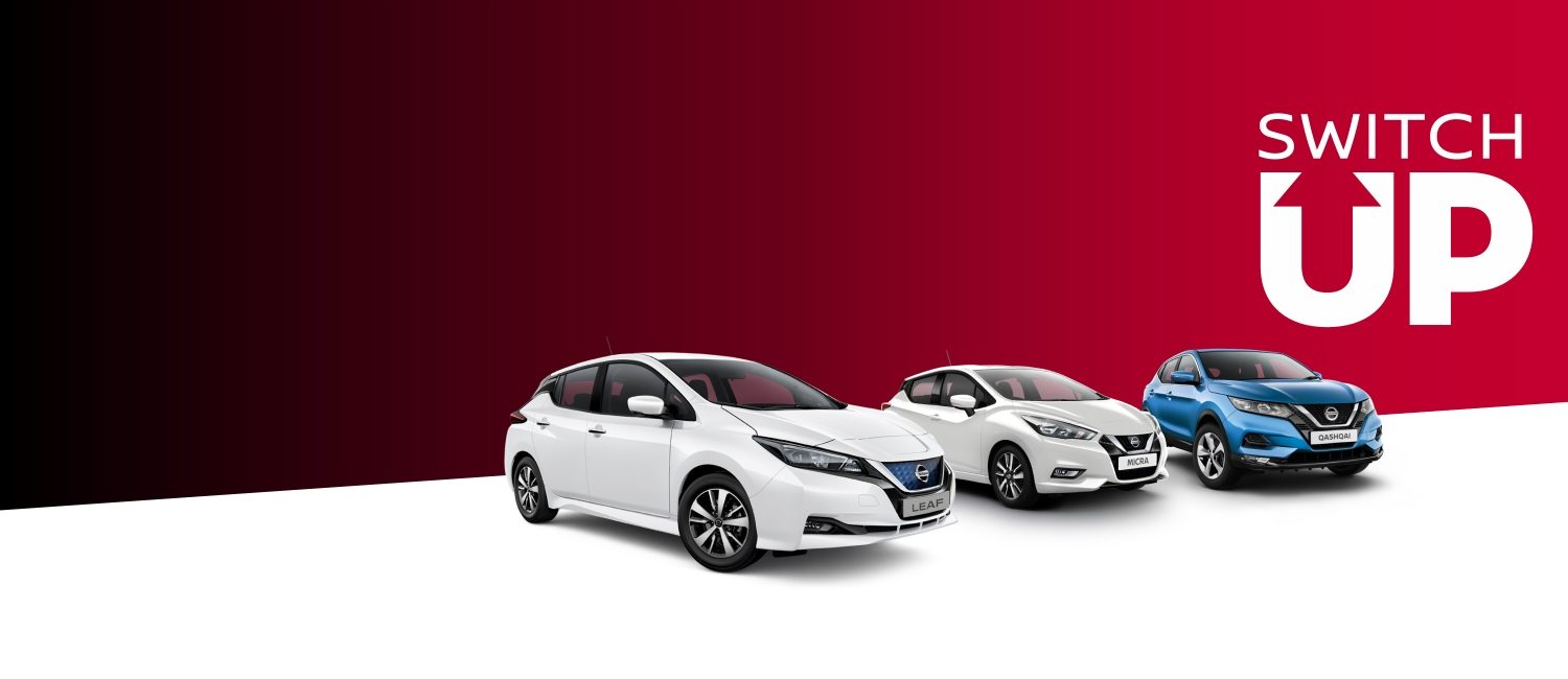 Switch up with offers including the Leaf, Micra and Qashqai