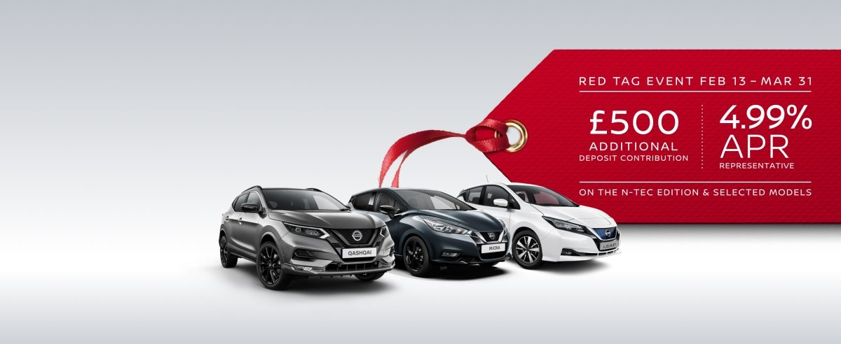 Red tag event with the nissan leaf, qashqai and micra