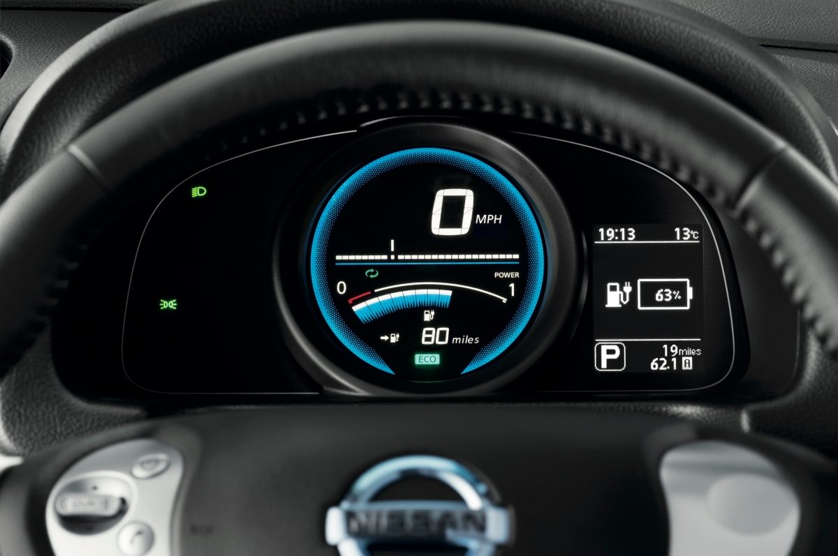 New Nissan e-NV200 dashboard