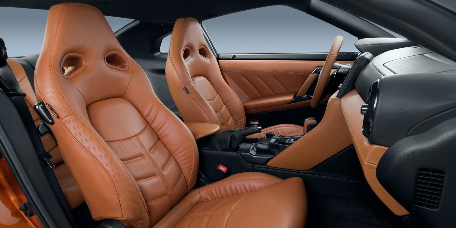 New GT-R leather seat detail