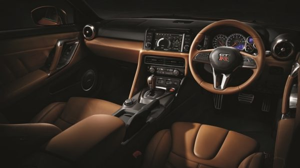 Nissan GT-R interior semi-aniline leather details