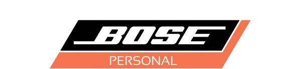 BOSE Personal brand logo is black and orange.