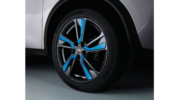 "18"" Xena Alloy Wheels with Wheel Finishers Blue"
