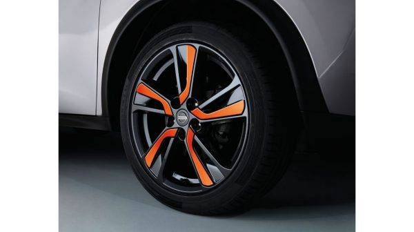 "18"" Xena Alloy Wheels with Wheel Finishers Orange"