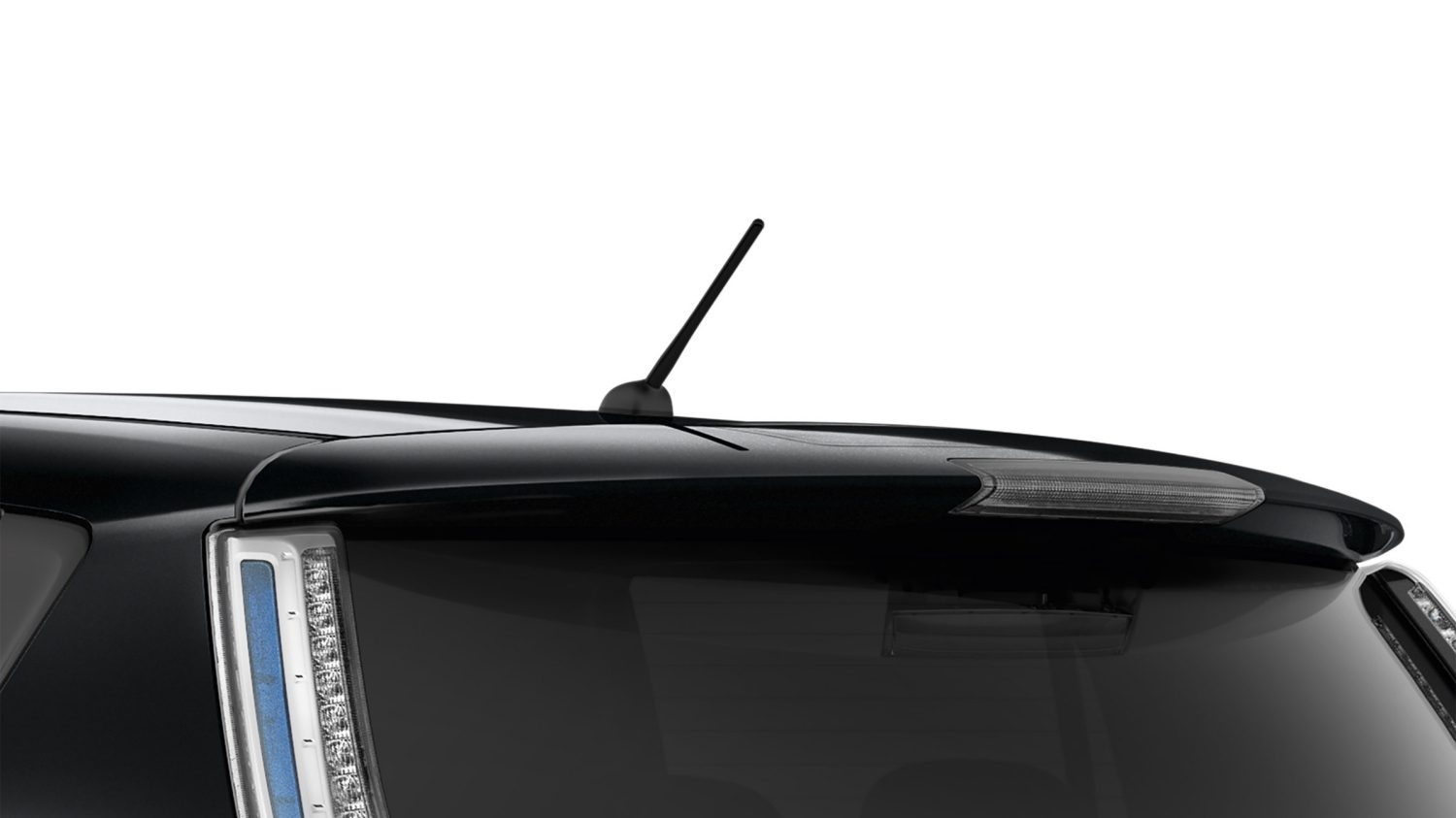 Nissan LEAF Black Edition - Black rear roof spoiler