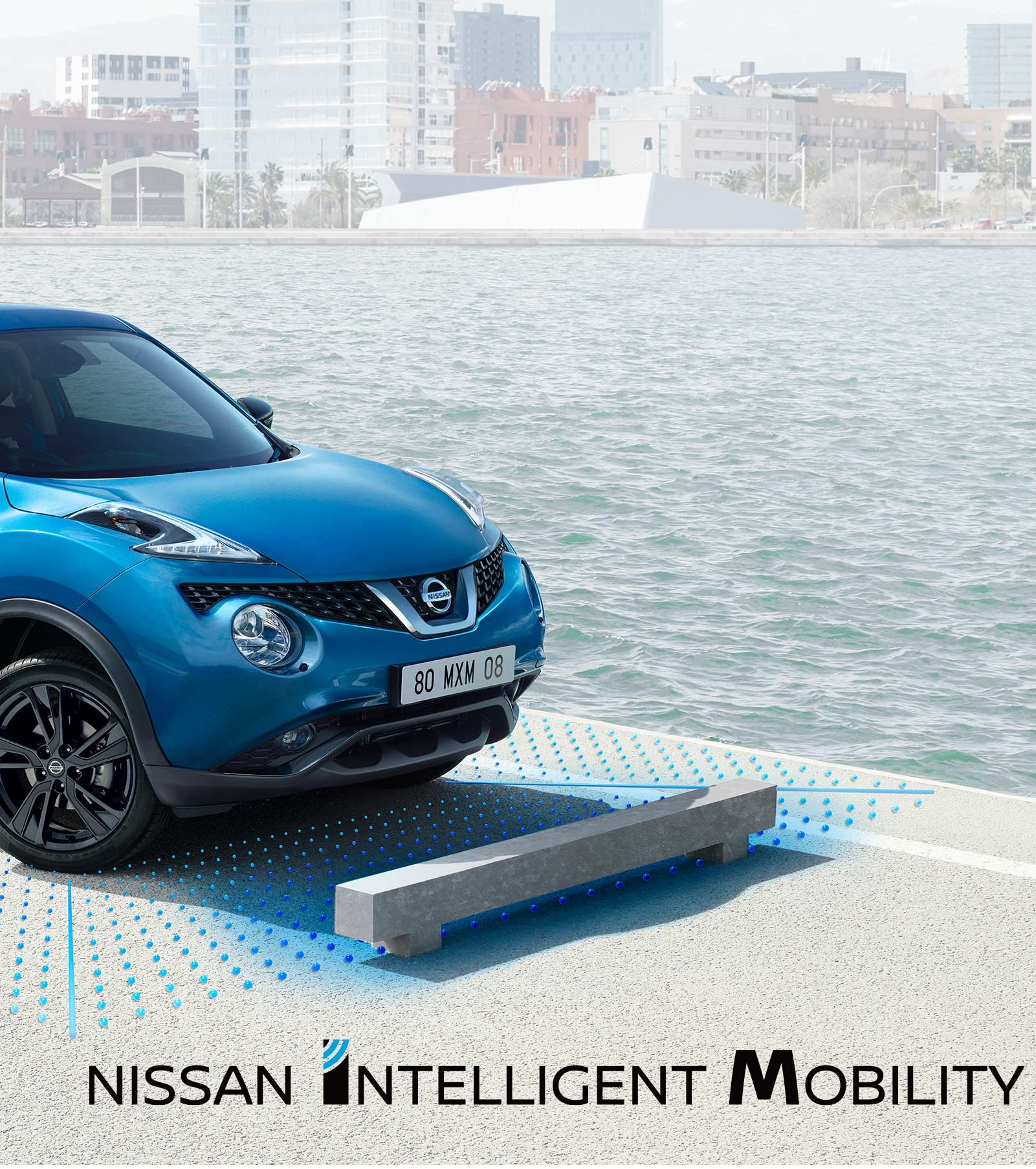 New Nissan Juke crop of the front of the car