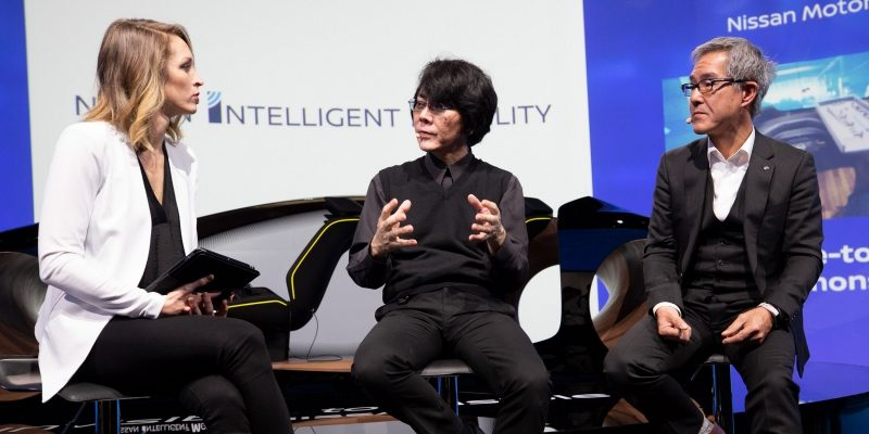 Hiroshi Ishiguro at the 2019 CES event in Las Vegas