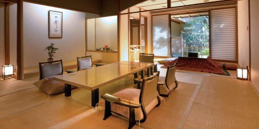 Ryokan interiror with table and chairs