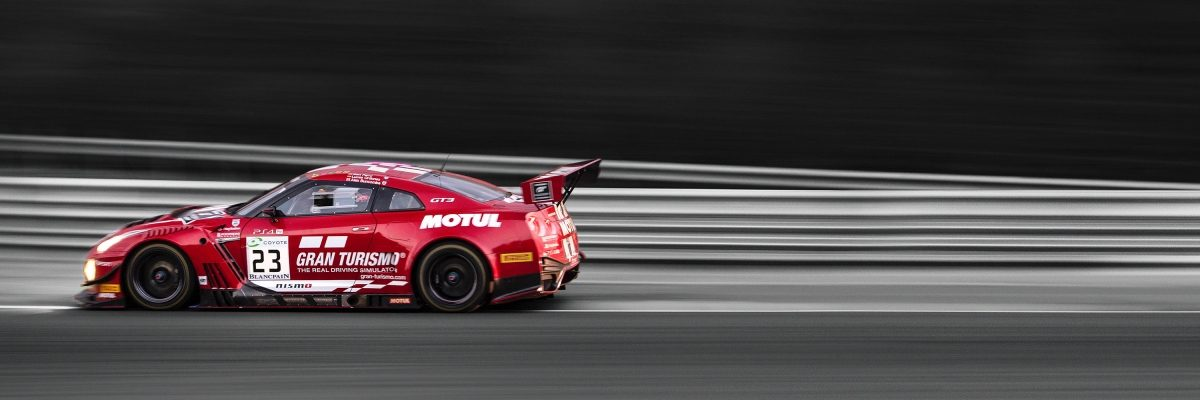 Nissan GT-R NISMO driving on track