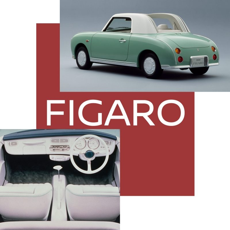 Exterior view of the Nissan Figaro 2+2 convertible