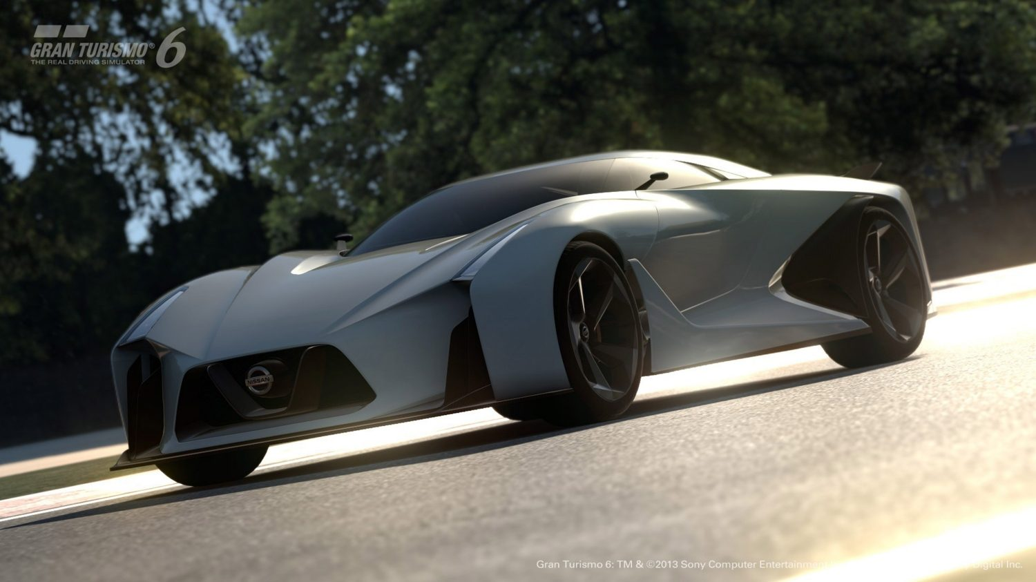 Nissan Concept 2020 Vision Gran Turismo low 3/4 front.