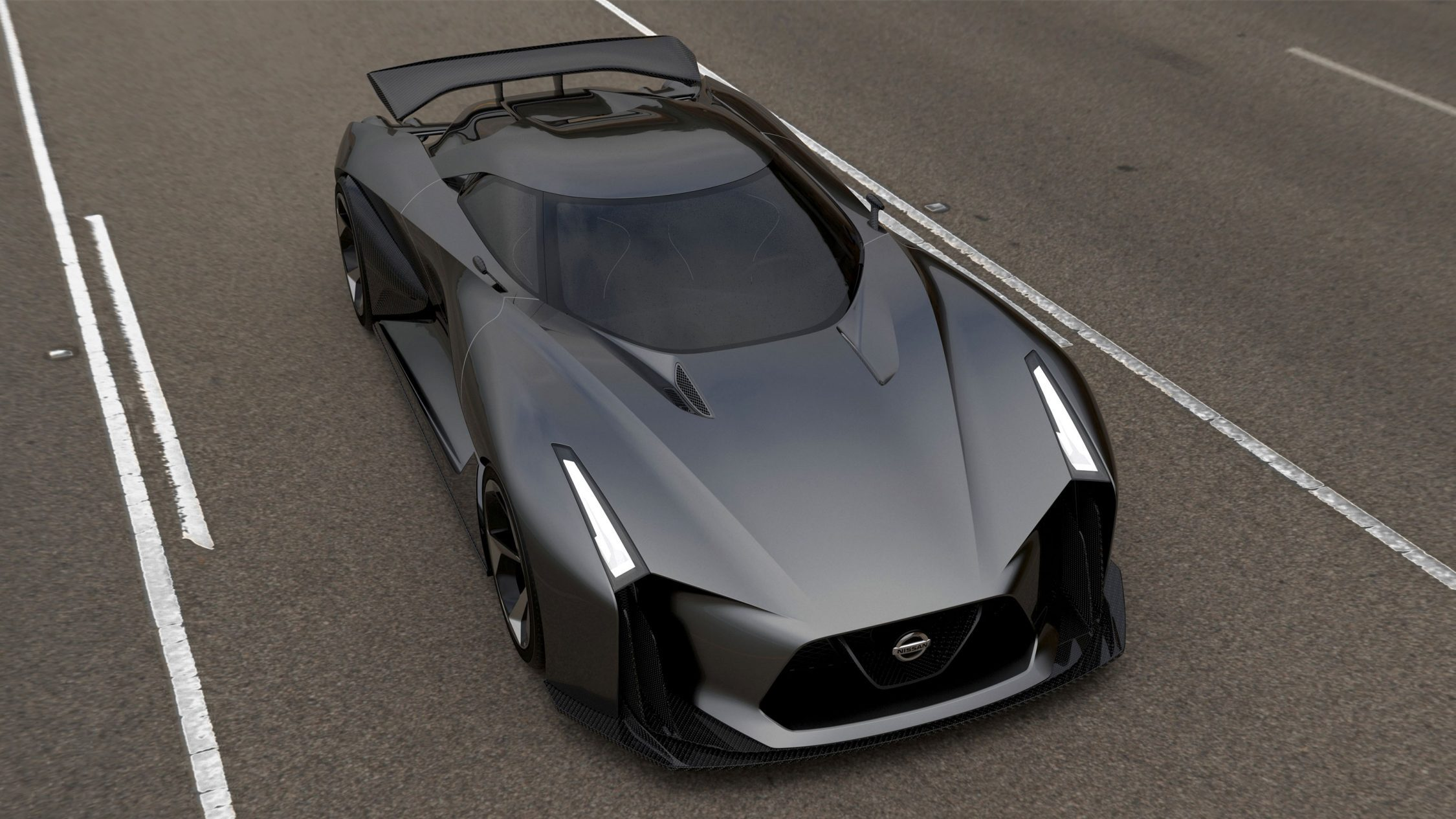 Experience Nissan - Concept car - 2020 Vision Gran Turismo - top front view