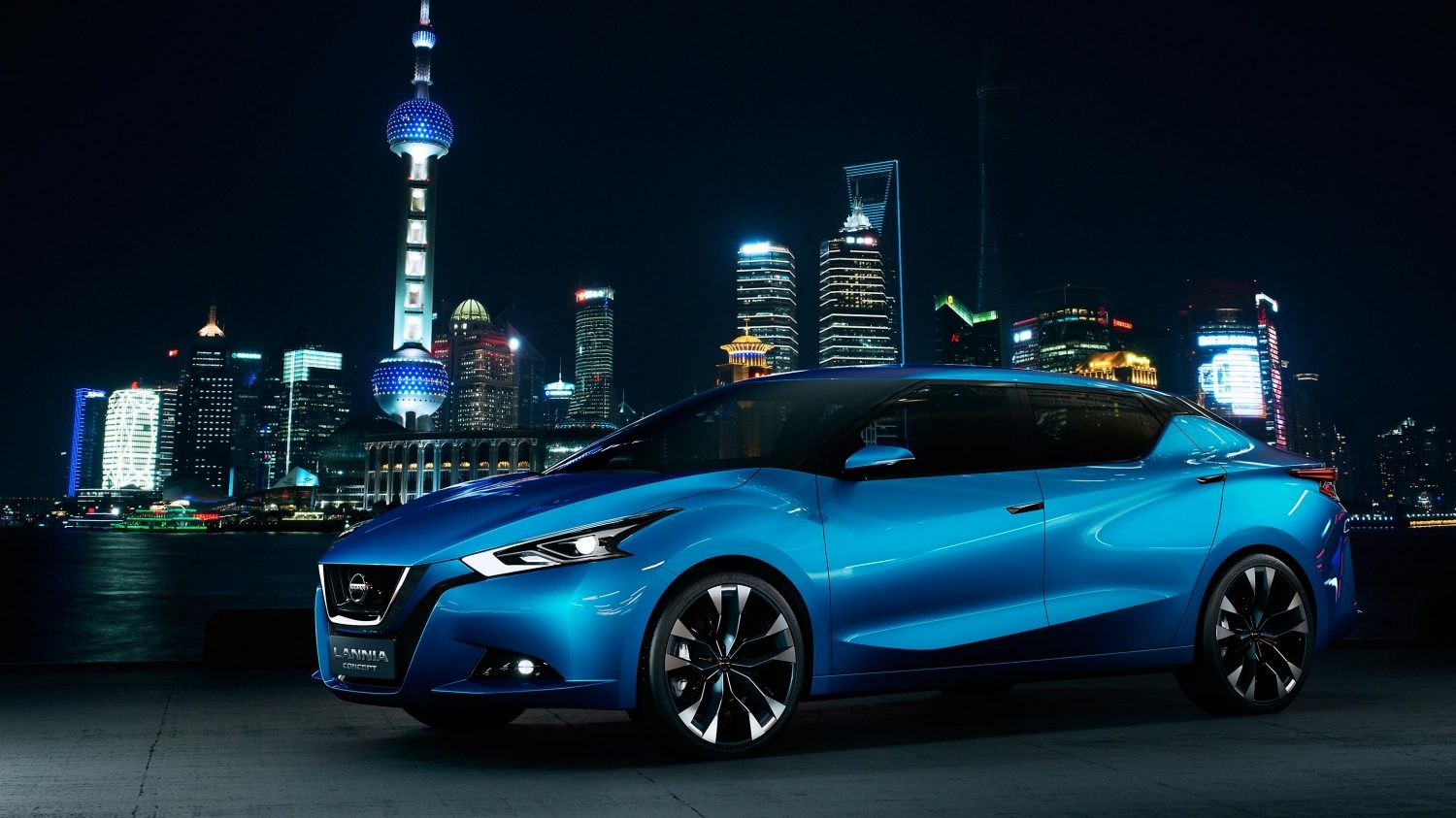 Nissan Lannia Concept in city at night