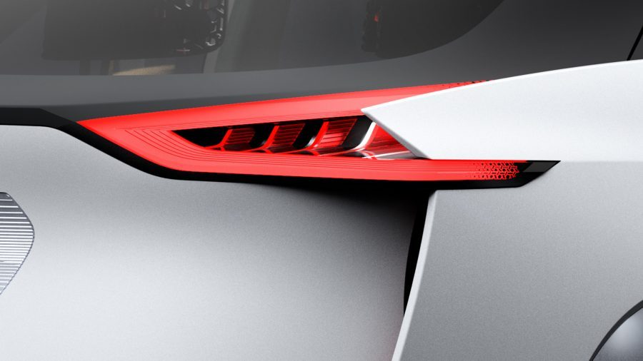 Nissan IMx concept car rear tail lamp detail