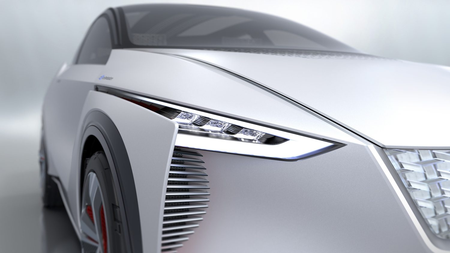 Nissan IMx concept car front head lamp detail