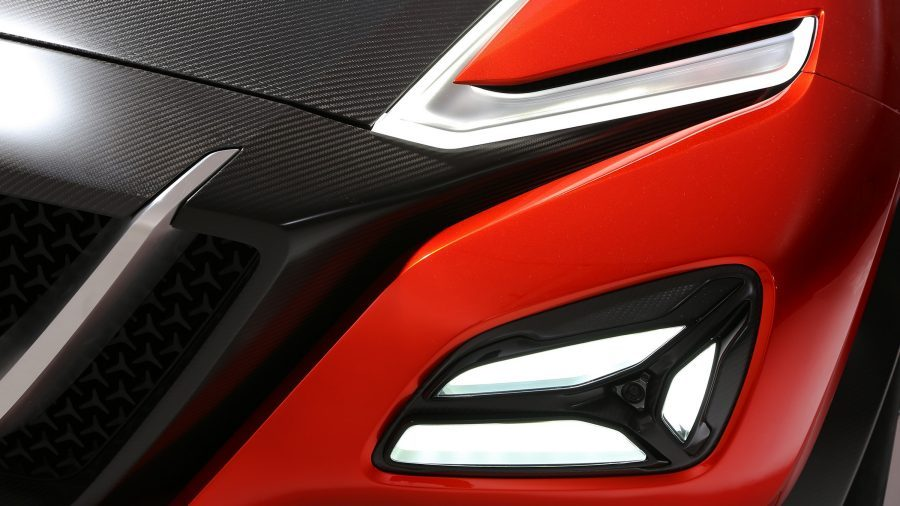 Nissan Gripz Concept headlight and foglight detail