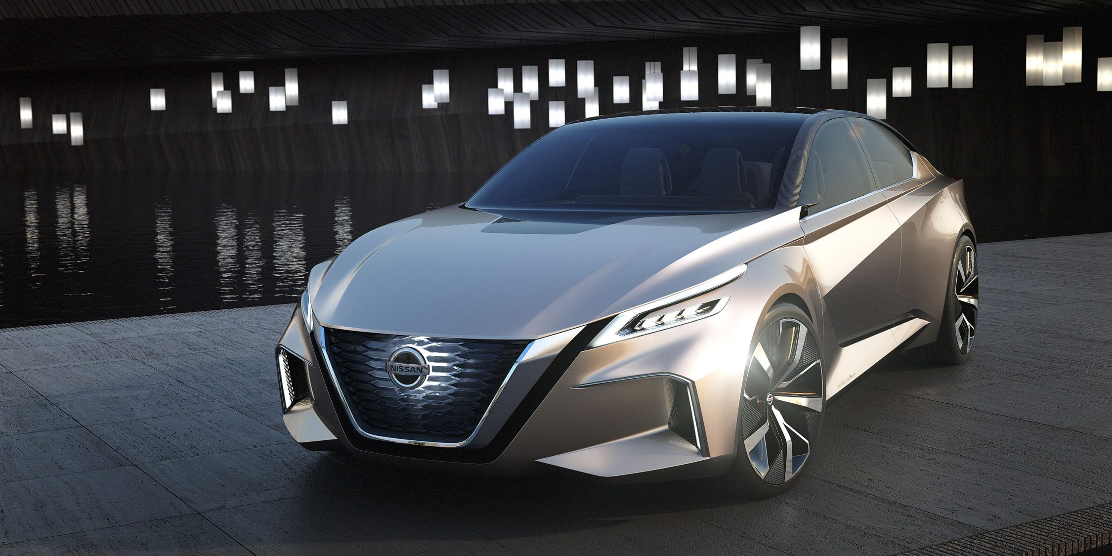 Nissan Vmotion 2.0 Concept 3/4 front at night