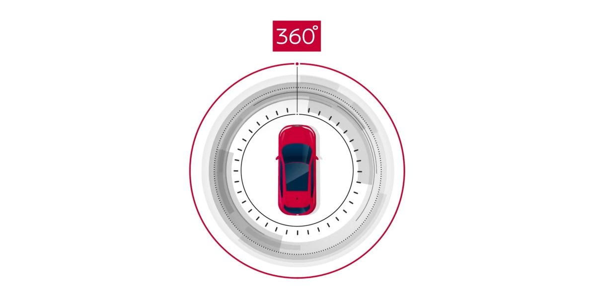 AROUND VIEW MONITOR INTELLIGENTE NISSAN per una visuale a 360°