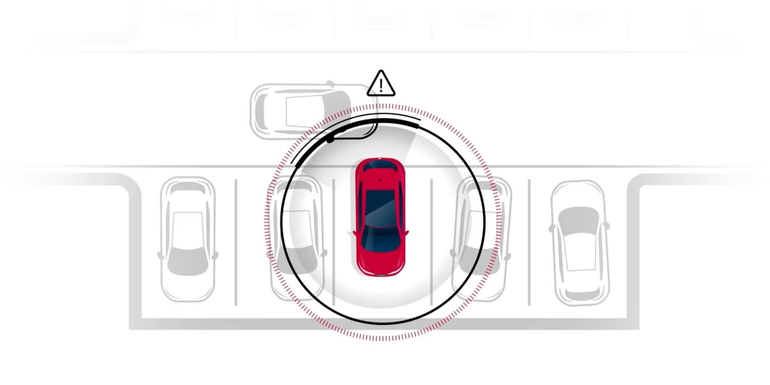 Nissan Intelligent Back-Up Intervention illustration