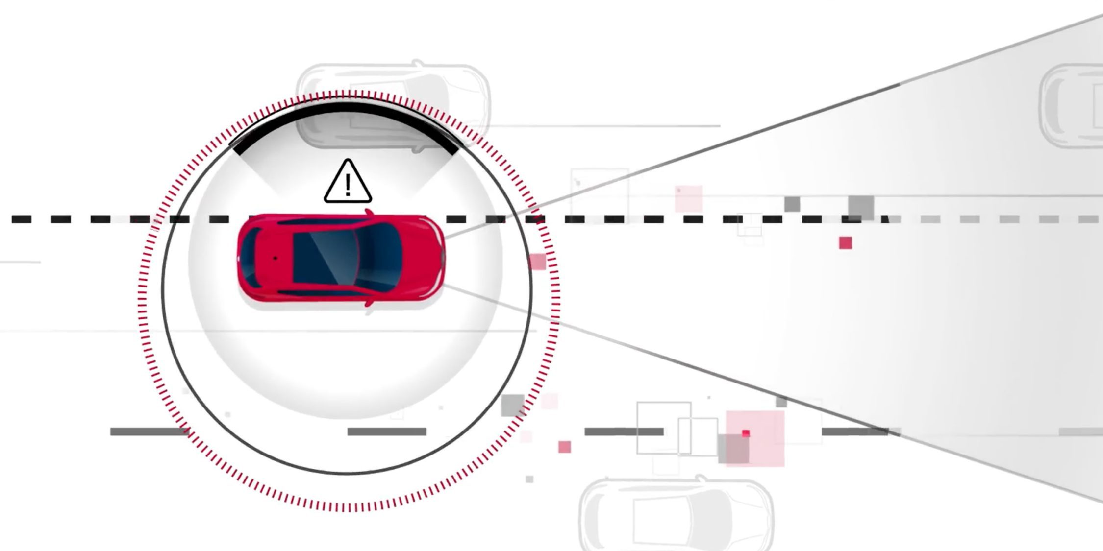 Nissan Intelligent Lane Intervention illustration