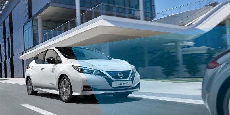 New Nissan LEAF with Intelligent Mobility technologies