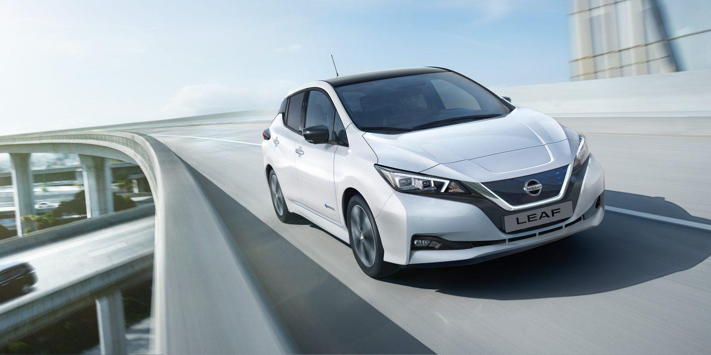 New Nissan Leaf on highway