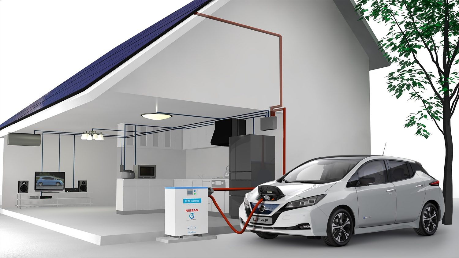 Nissan LEAF vehicle to grid system