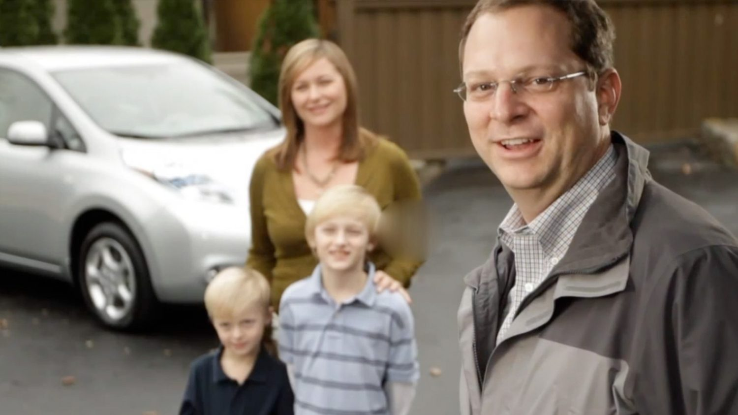 Family with Nissan LEAF