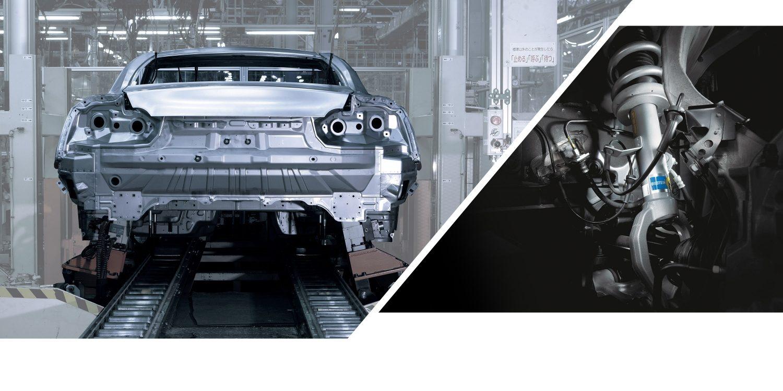 GT-R Karosserieverklebung und Bilstein Damptronic Fahrwerk