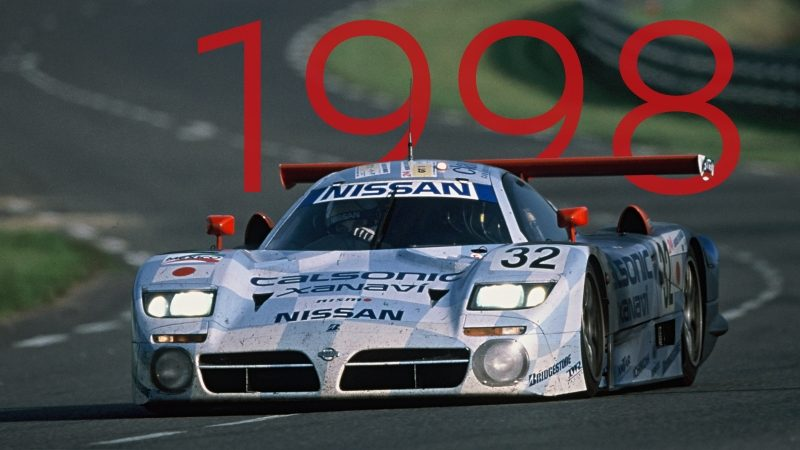 1998 Nissan R390 GT1 racing at LeMans