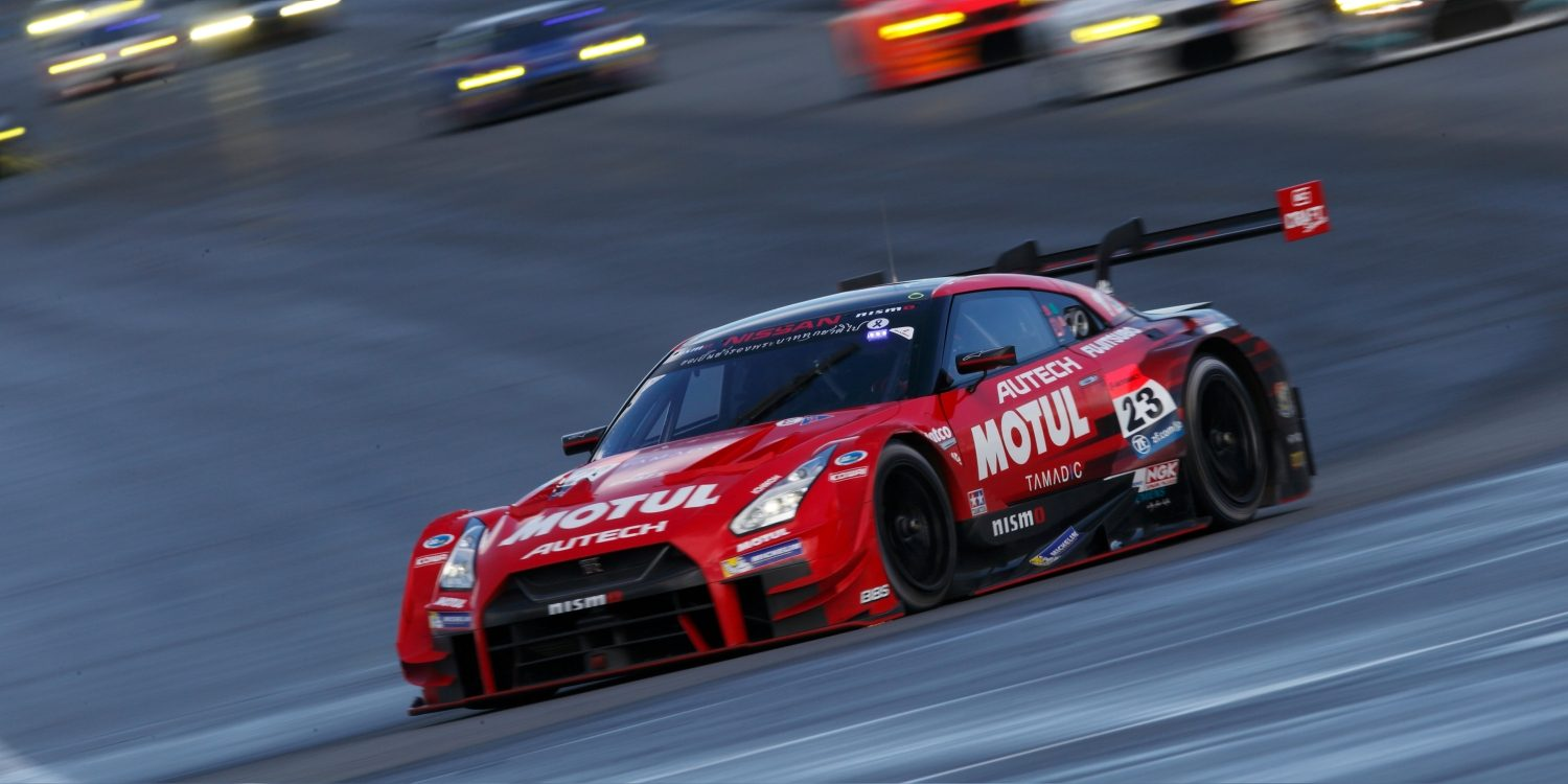 Nissan GT-R NISMO GT3 frontview on racetrack