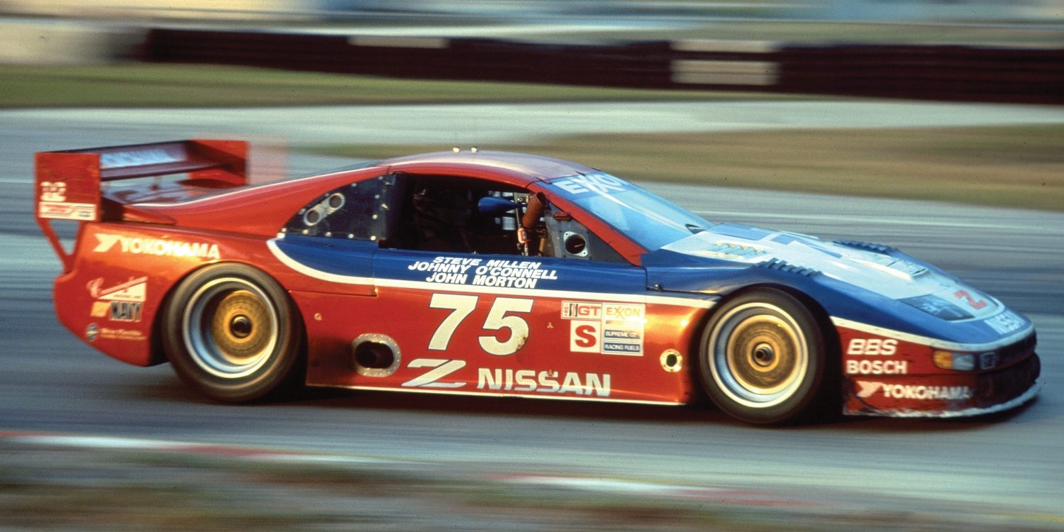 Nissan Nismo 300ZX race car on the track