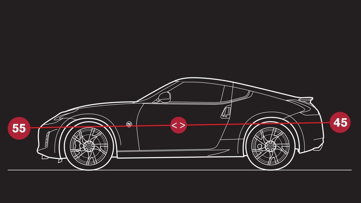 Nissan 370Z Roadster - Illustration de la répartition des masses