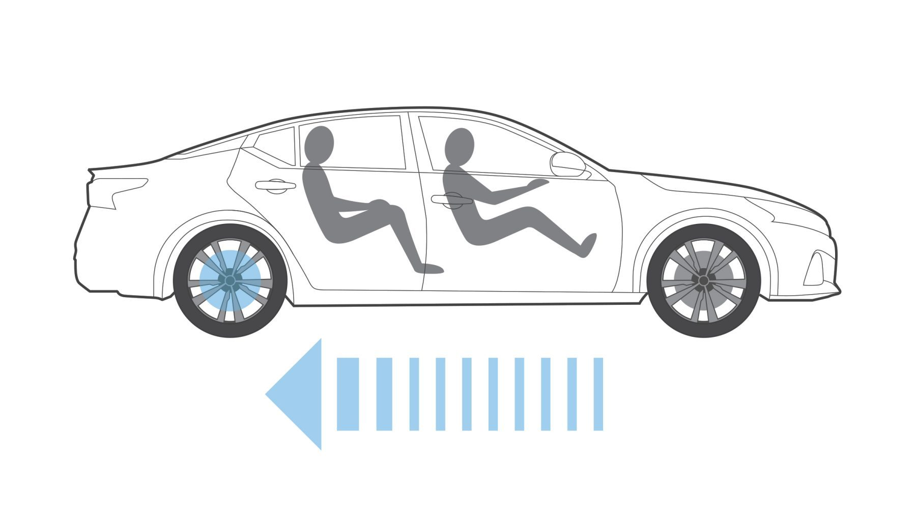 Nissan Altima braking technology graphic